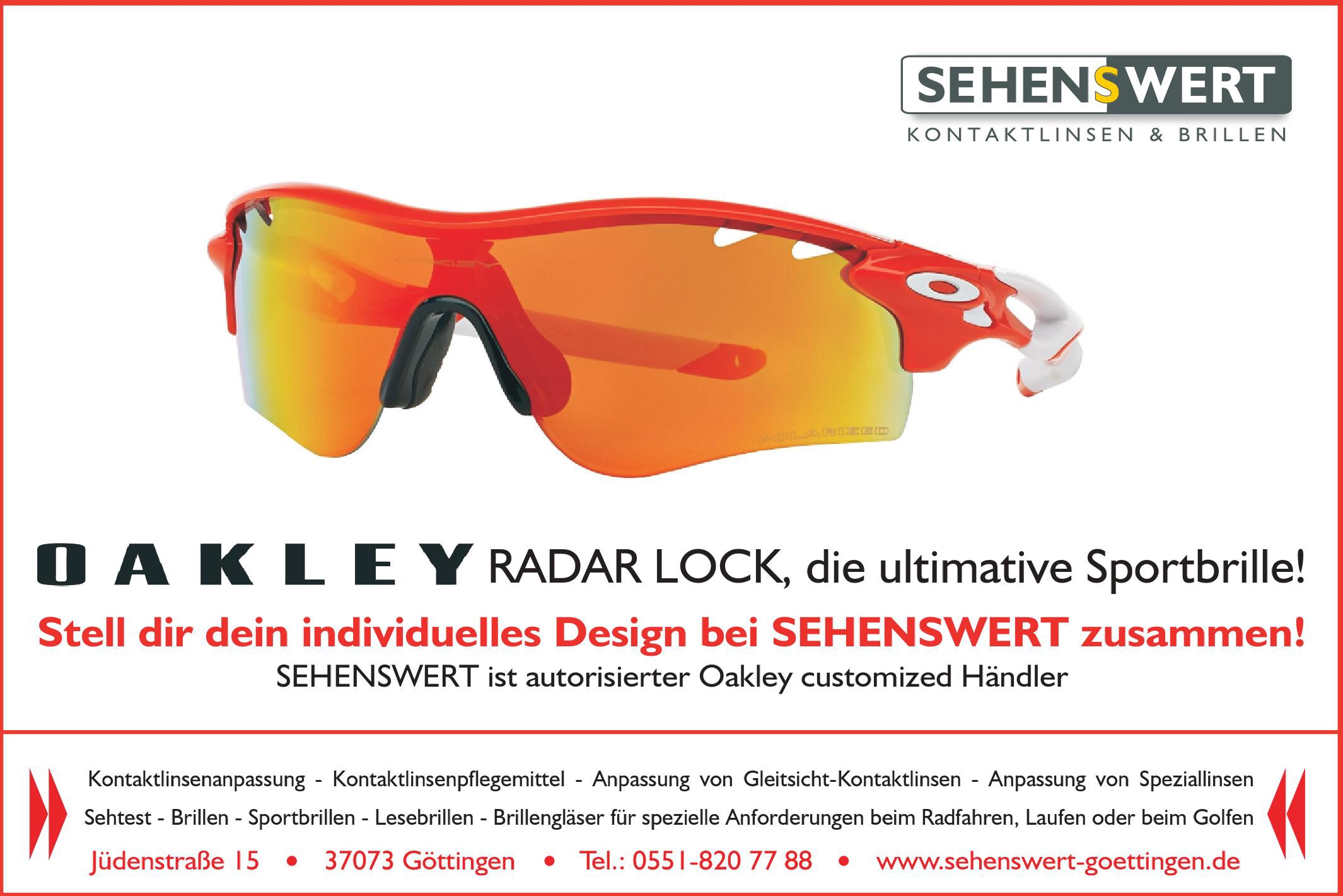 Individuelle Sport Optik – Oakley customized
